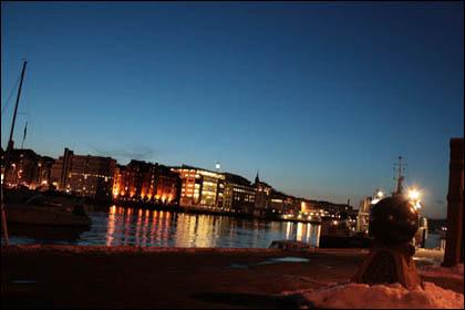 Bergen Harbour Night