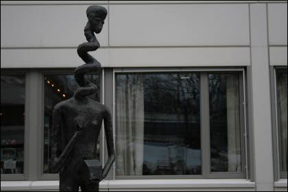 Statue at NRK